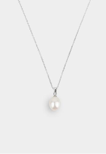 monojewelry DROP PEARL ON SILVER NECKLACE 09B02ACD27F255GS_1