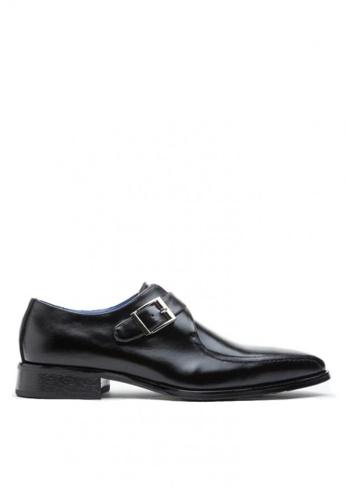 Kings Collection black Merlot Monk Strap Shoes D655ESH005361EGS_1