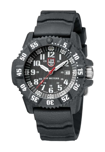 Luminox black Luminox Carbon Seal White and Black Carbon Compound and Rubber Watch 5523AACA470298GS_1
