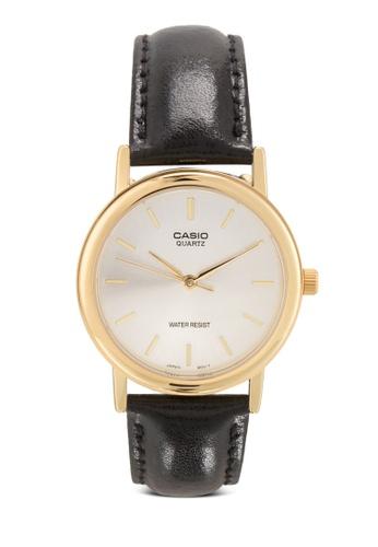 Casio black Casio Men's Leather Watch MTP-1095Q-7A CA843AC35MIEMY_1