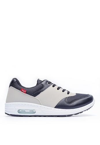 Life8 grey Embossed Fabric Sport Shoes-09324-Grey LI283SH87LAQSG_1