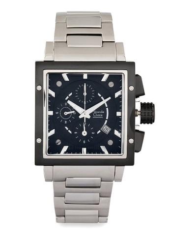 Alexandre Christie silver Alexandre Christie Jam Tangan Pria - Silver Black - Stainless Steel - 6182 MCBTBBA AL709AC89ALYID_1