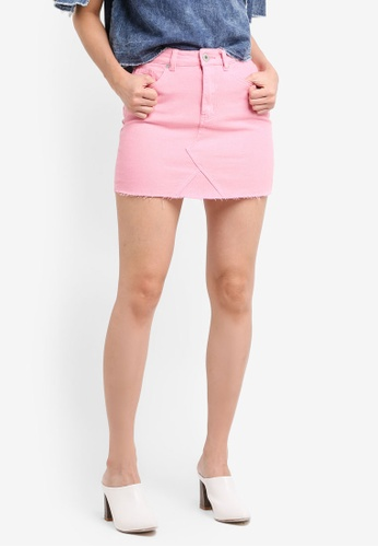 Factorie pink The Jean Skirt FA880AA0SKIUMY_1