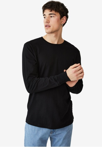 Cotton On black Organic Long Sleeve T-Shirt 6FF03AA10DF931GS_1