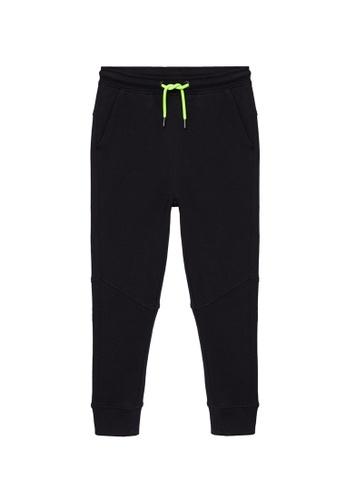 MANGO KIDS black Organic Cotton Jogger Trousers 0BB56KAFB8582EGS_1