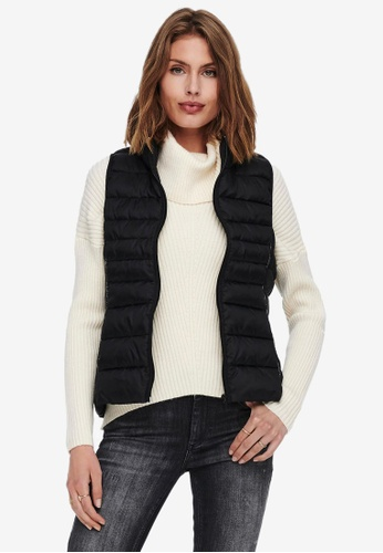 ONLY black Newclaire Quilted Waistcoat F1E7DAA424C5B4GS_1