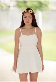 Manika Ribbed Crepe Babydoll Dress