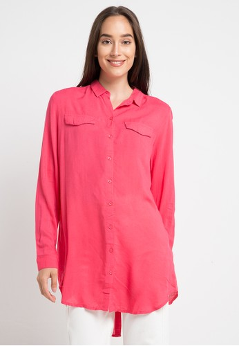Ninety Degrees pink Crystaline Shirt 81760AA3193A34GS_1