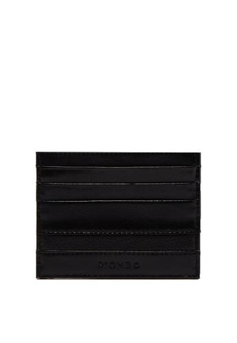 OVS black Piombo Textured Leather Card Holder DF11FAC1E8FCE5GS_1