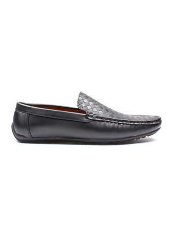 Moley black Weave Pattern Loafers 8B2CDSH7061356GS_1