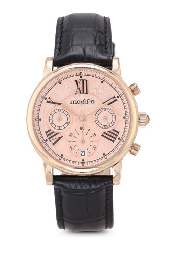 Massa Collections black Ingenious Rose (Black Strap) Ladies Chronograph Leather Watch 5B2AAAC0E6E364GS_1