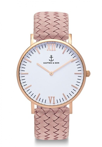 """Kapten & Son pink Campus """"Rose Woven Leather"""" CAF8EAC92ECB2AGS_1"""
