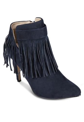 流蘇高跟靴,esprit outlet 高雄 女鞋, 鞋