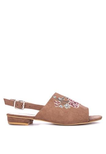 BENCH pink Sling Back Peep Toe Sandals 3FEFDSH9664FD9GS_1