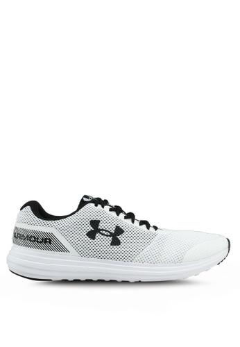 Under Armour white UA Surge Shoes 7EBE9SHD386C4DGS_1
