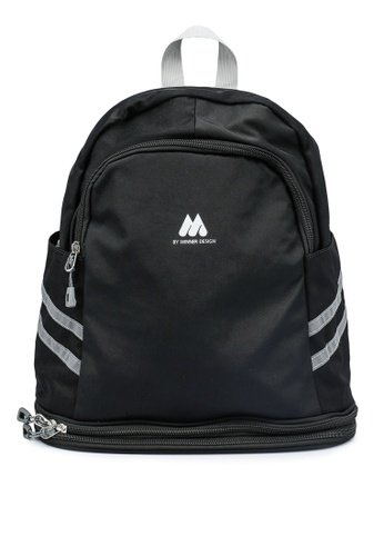 Bagstationz black Multipurpose Backpack with Shoe Storage B25DAAC18A55A9GS_1