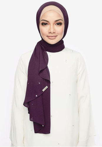 Naelofar for ZALORA purple Louisa Shawl DDF67AA18D54EAGS_1