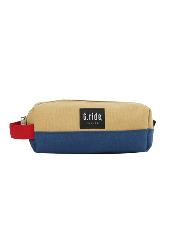 G.ride yellow and blue Dorian Pencil Case 2F473AC4A5461AGS_1