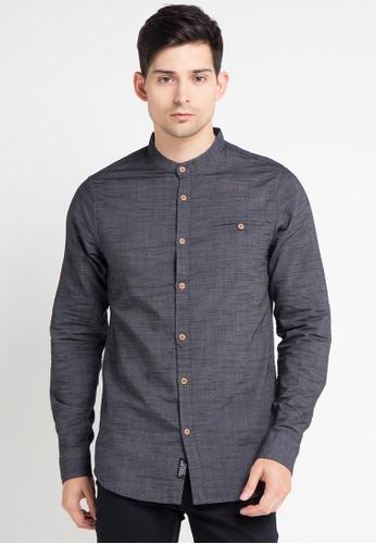 Cressida grey Chambray Long Shirts CR235AA0WE7SID_1