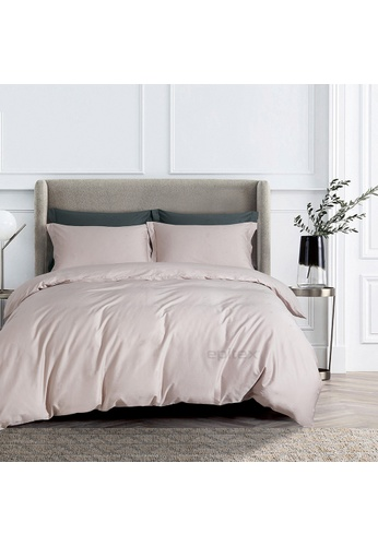 Epitex pink Epitex CD2539-1 1000TC Supima Black Cotton Collection Dobby (Fitted Sheet, w/o quilt cover). 29D19HL4BB34E8GS_1