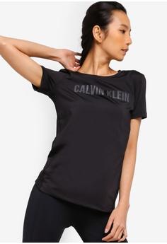 d6037656083 Calvin Klein black CK Logo Mesh Short Sleeves Tee - Calvin Klein  Performance 5FEE6AA84F34A9GS 1