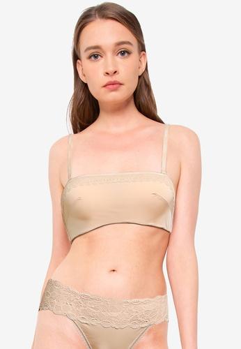 Calvin Klein 米褐色 Lightly Lined Bandeau Bra - Calvin Klein Underwear 28477USDC89A2BGS_1