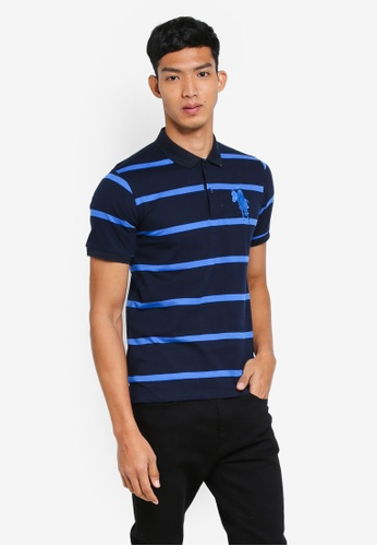 Fidelio navy Horse Riding Stripes Polo Shirts 46F6DAA2CAEE0FGS_1