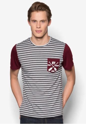 印花口袋條紋TEE、 服飾、 T恤JAXON印花口袋條紋TEE最新折價
