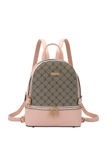 PLAYBOY BUNNY pink Monogram Backpack 5853AACCC278F1GS_1