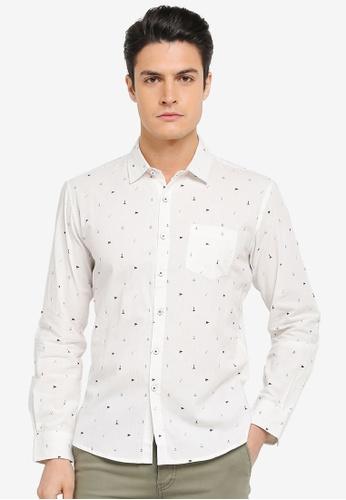 JAXON white Nautical Long Sleeves Shirt AE2BCAA5B28E1DGS_1