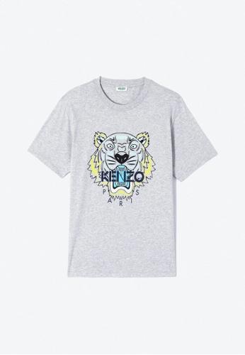 Kenzo grey KENZO TIGER T-SHIRT. BA11DAACA8D4E5GS_1