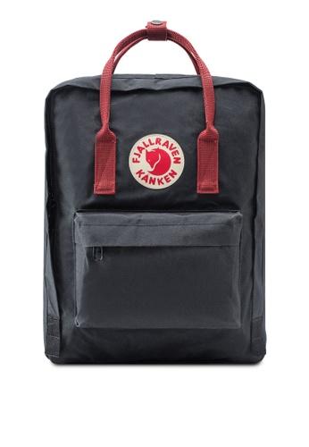 Fjallraven Kanken black and red Black-Ox Red Kanken Classic Backpack FJ382AC26VAJMY_1