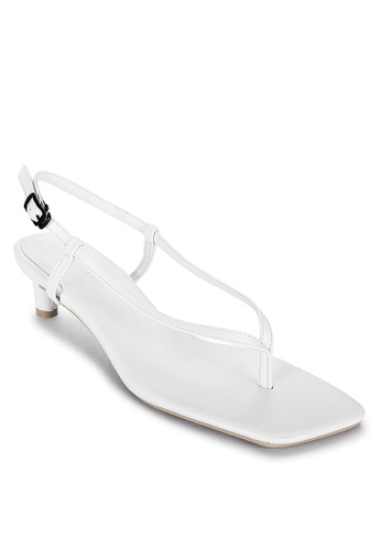 Primadonna white Thong Heeled Sandals 6D407SH09D2A17GS_1