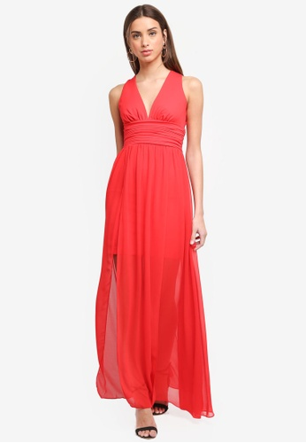 French Connection red Andros Jersey Maxi Dress 81D47AA7001940GS_1