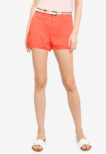 Springfield red Chino Shorts With Belt CB733AA015876BGS_1