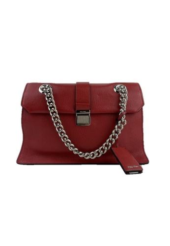 MIU MIU red PRE-LOVED MIU MIU MADRAS SHOULDER BAG 86096AC38AF1D4GS_1