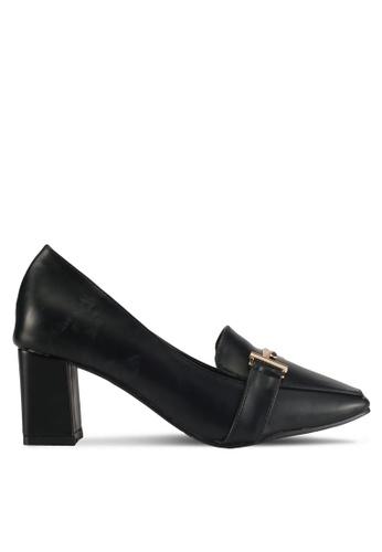 Alfio Raldo black Pleather Heels 08F0FSH5BBF512GS_1