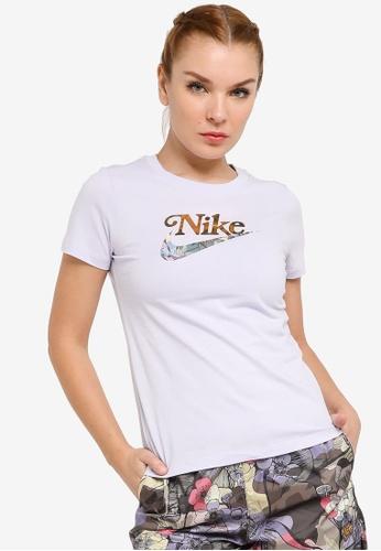 Nike purple Sportswear Femme Tee 7523CAA3EEEFCBGS_1