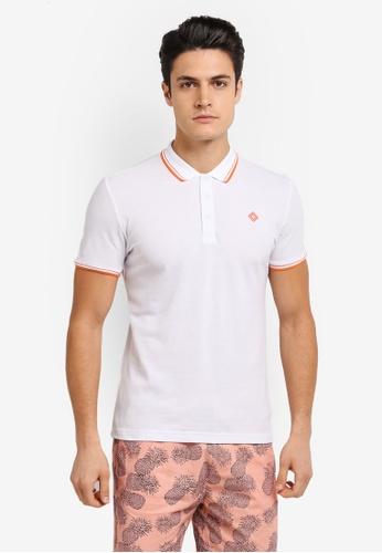 JAXON white Tipping Logo Polo Shirt 7CFE8AA4006CA3GS_1
