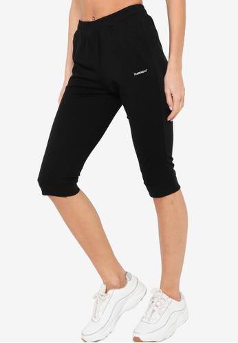 361° black Cross Training Knit Capri Pants 0D802AA15623A3GS_1