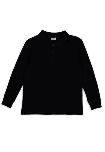 LC Waikiki black Boy's Basic Cotton Polo Shirt 49D4EKAF5210EEGS_1