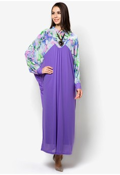 Floral Jubah with Necklace