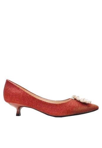 Twenty Eight Shoes 亮片珍珠扣婚鞋 295-8 DE8A8SH45297DEGS_1