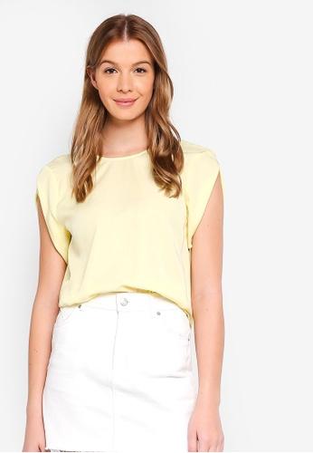 ESPRIT yellow Woven Short Sleeve Blouse D22DFAA65682C3GS_1