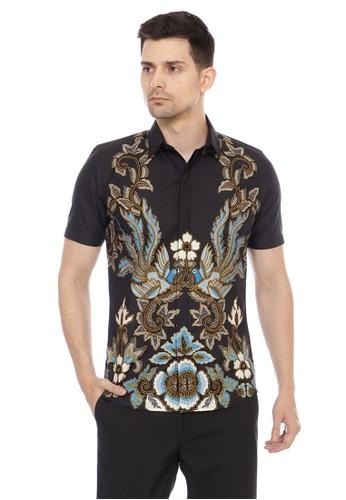 Aksa Batik black TOMMY TANIA HEM PENDEK B5413AAFD1BA4EGS_1