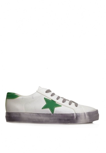 Twenty Eight Shoes white and green and multi The Ordinary Star Sneaker VT8888 C6F79SH4C80813GS_1