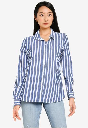 GAP blue Striped Shirt 8E4CEAA55FA392GS_1