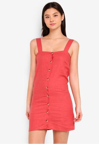 Supre pink Penny Button Through Dress 8598FAA3D9467CGS_1
