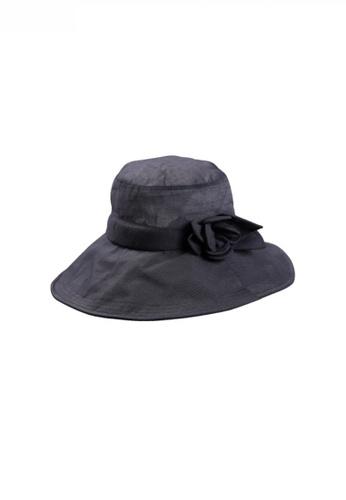 Twenty Eight Shoes black Feminine Floral Details Sun Hat JW LL-WG160008 6CA4DAC1F1CC25GS_1