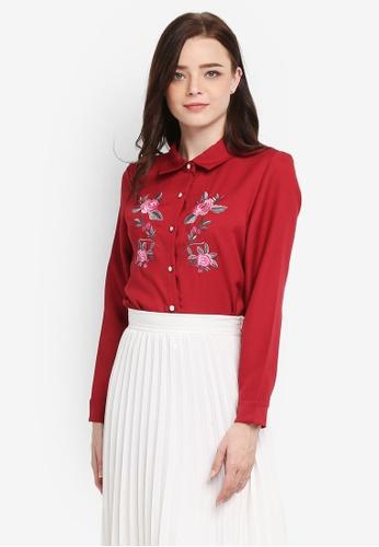BYN red Embroidery Shirt BDAE1AA8C9AC4CGS_1